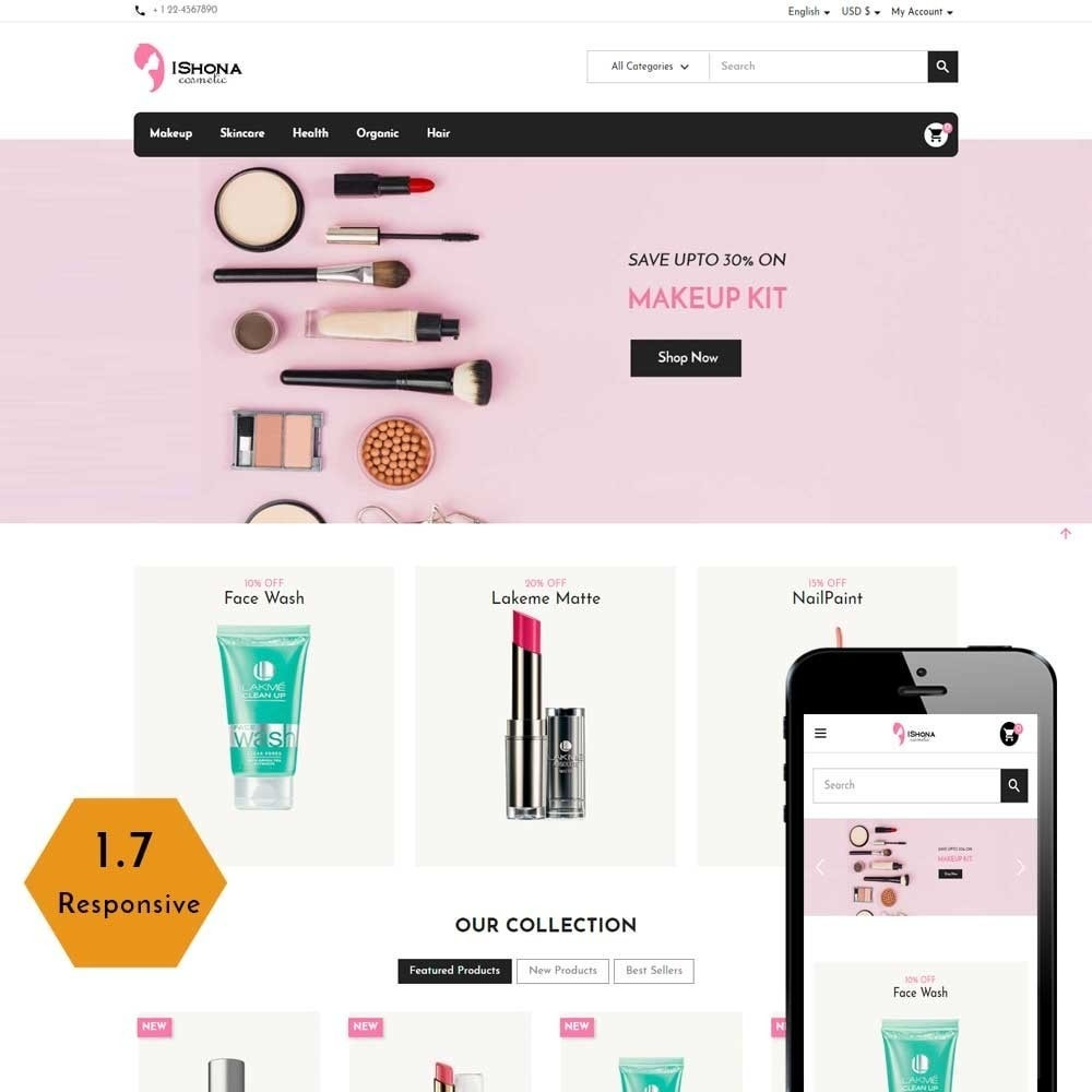 theme - Health & Beauty - Ishona Cosmetic Store - 1