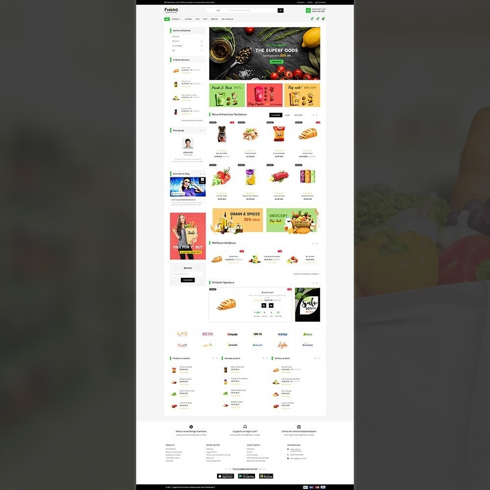 theme - Alimentation & Restauration - FreshG Mega Grocery–Food Drink–Coffee Super Store v3 - 2