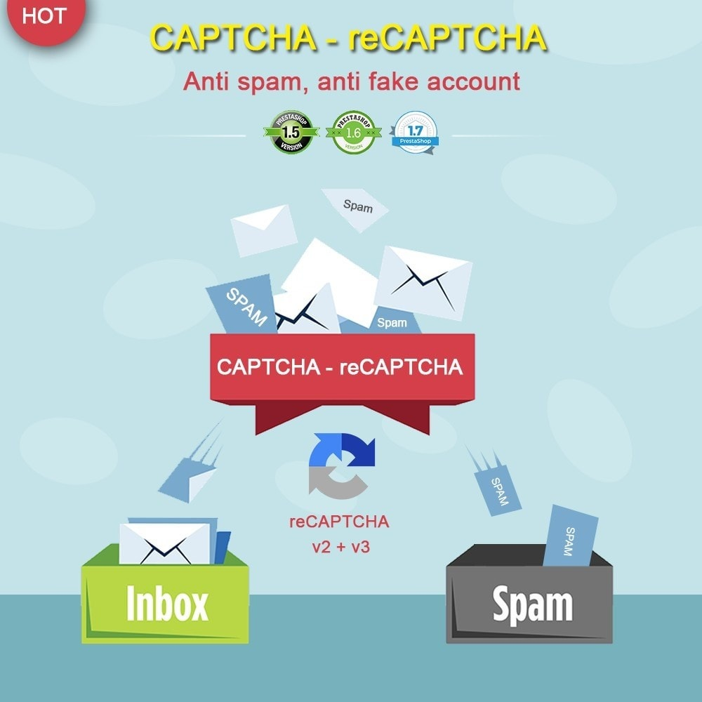 module - Sicherheit & Brechtigungen - CAPTCHA - reCAPTCHA - Anti spam - Anti fake account - 1