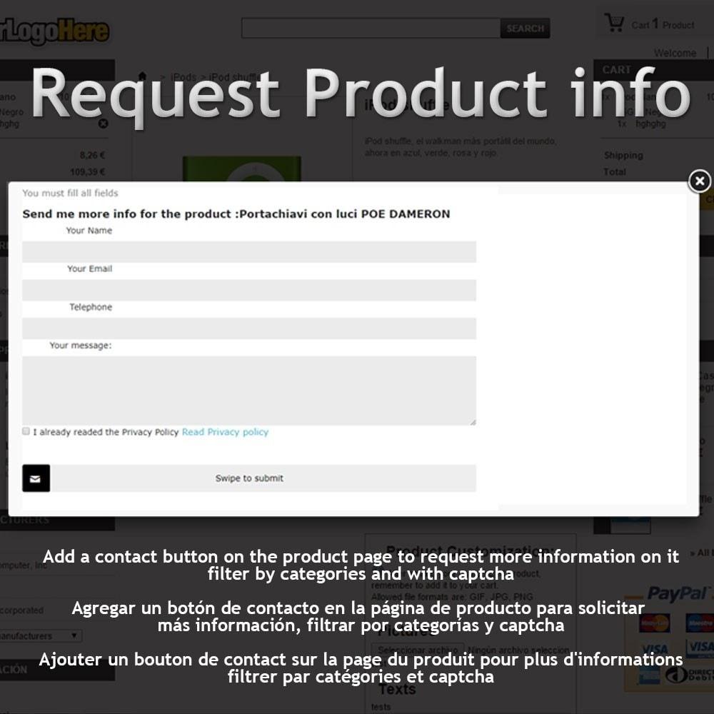 module - Formulario de contacto y Sondeos - Request Product Info - 1