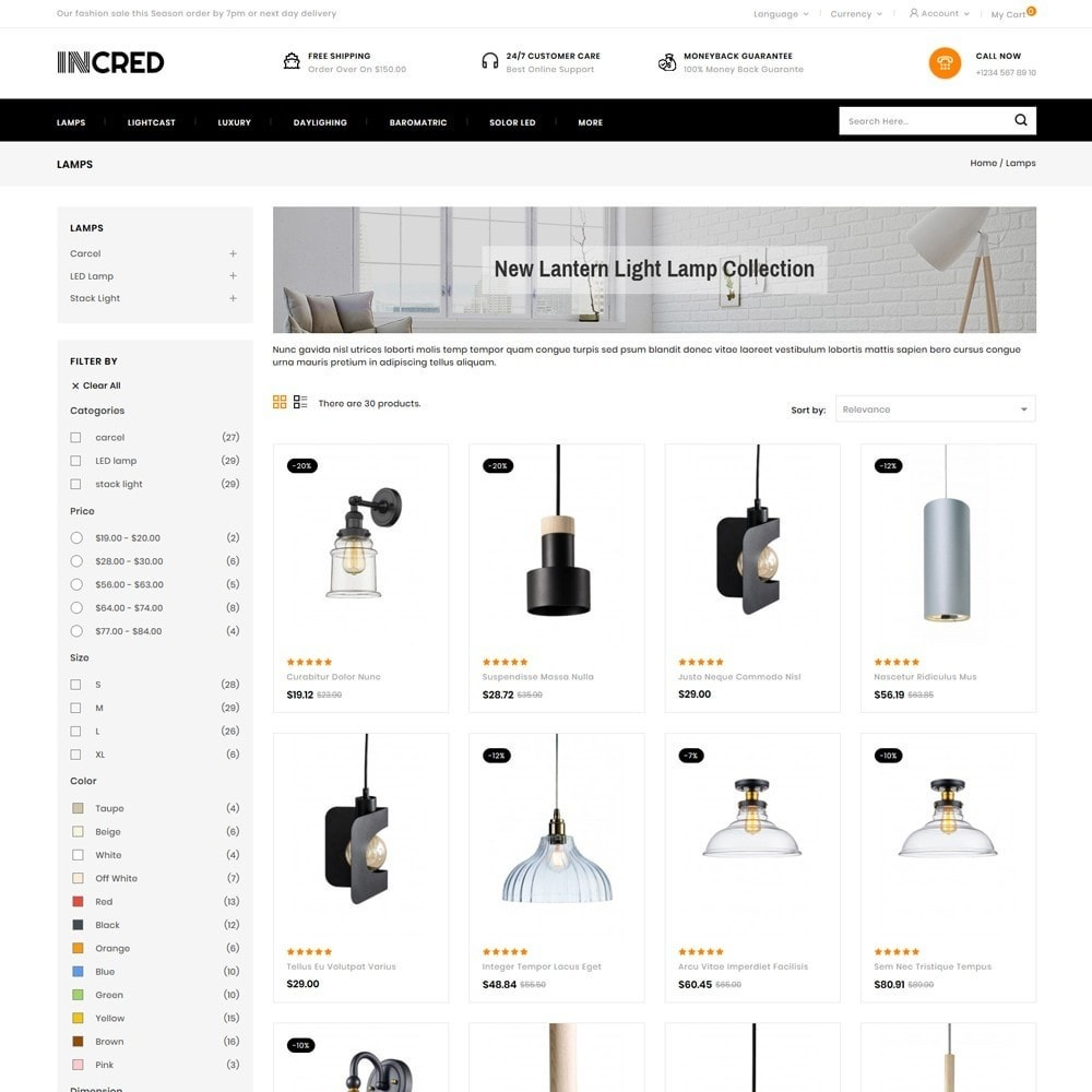 theme - Casa & Jardins - InCred - Light Accessories Store - 3