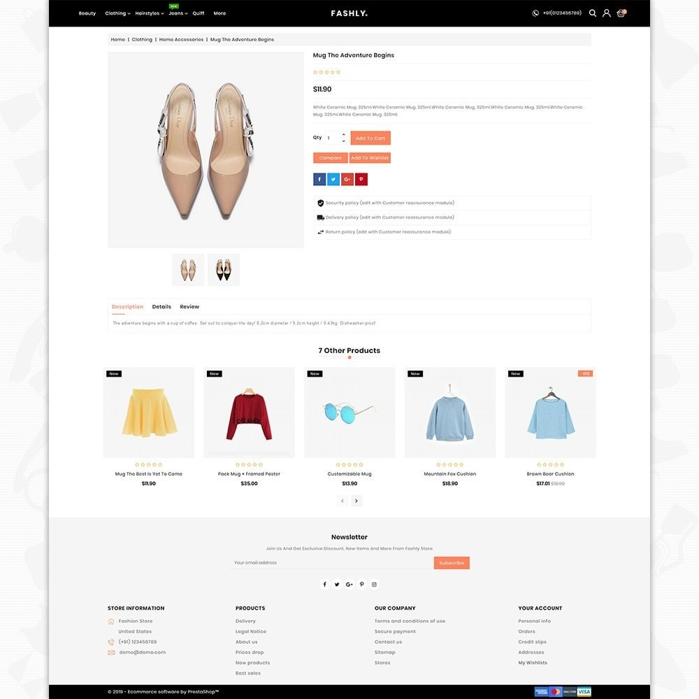theme - Mode & Chaussures - Fashly -The Fashion Store - 5