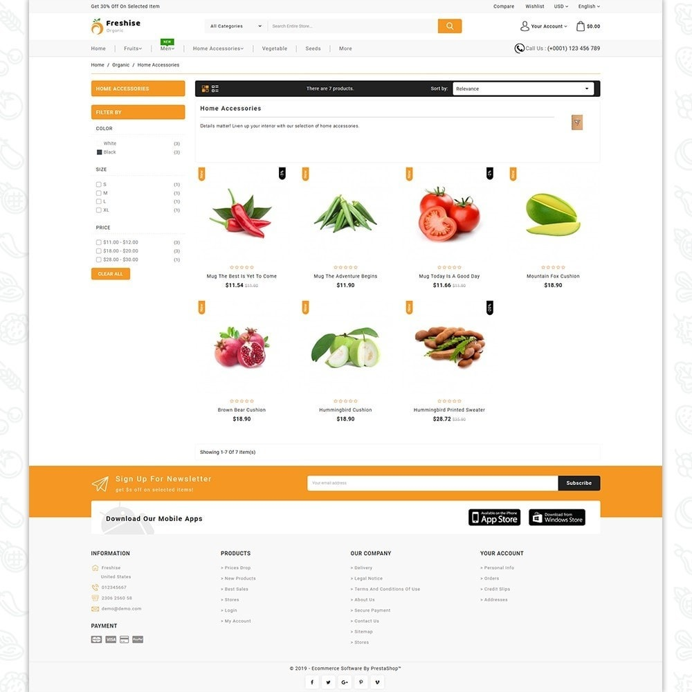 theme - Alimentation & Restauration - Freshise - The Best Organic Store - 3