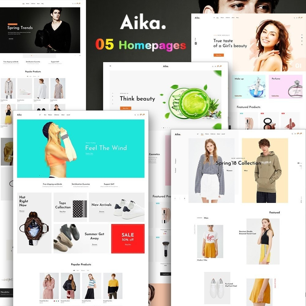 theme - Salud y Belleza - Leo Aika Fashion & Cosmetic Store - 1