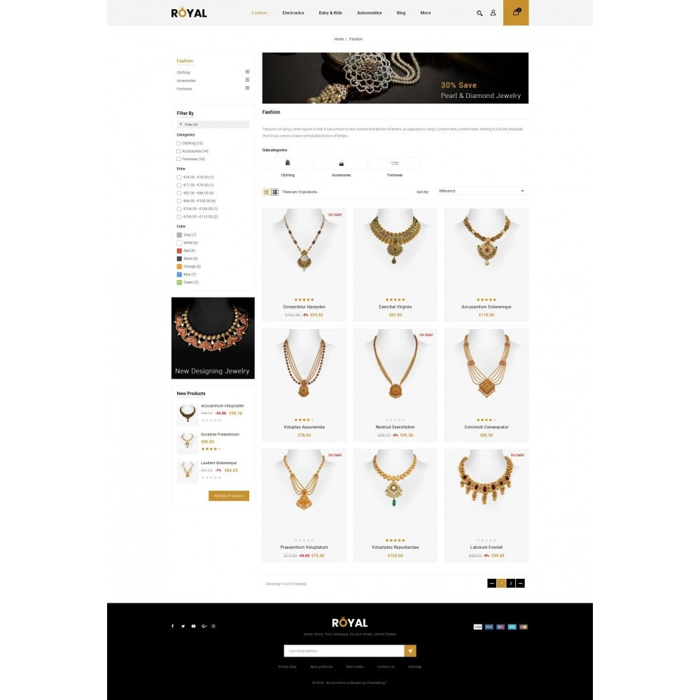 theme - Schmuck & Accesoires - Royal - Jewellery Store - 3