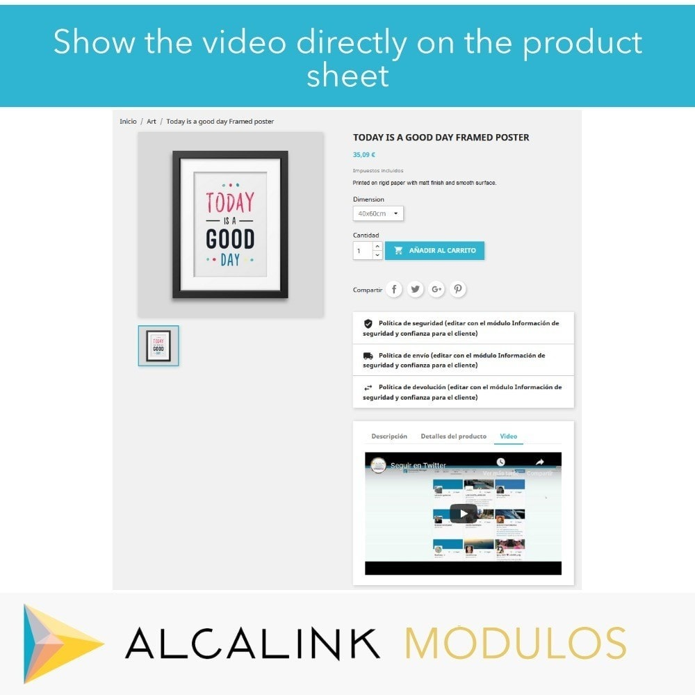 module - Video's & Muziek - Video in Product Sheet - Youtube, Dailymotion... - 5