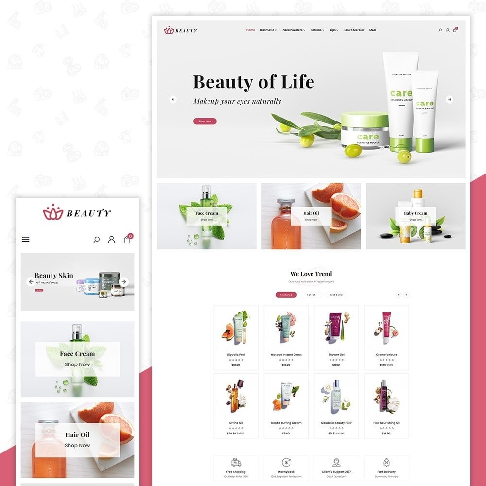 theme - Health & Beauty - Beauté - Cosmetic Mega Store - 1