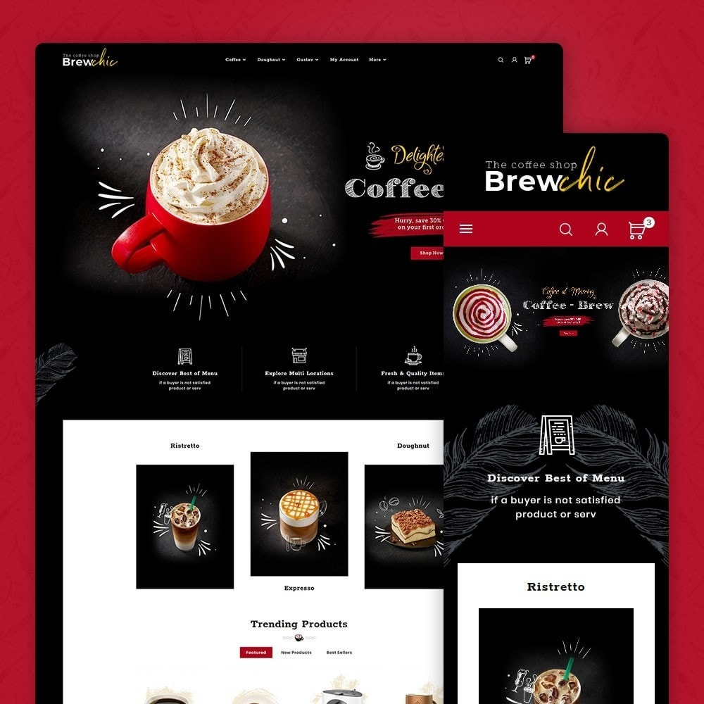 theme - Drink & Tobacco - Brew Chic - Coffee Shop - 1