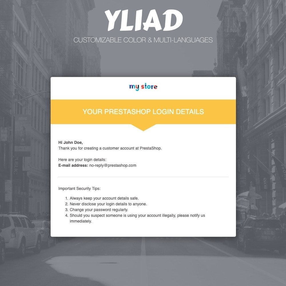 email - E-mailtemplates van PrestaShop - Yliad - Professional and responsive email templates - 2