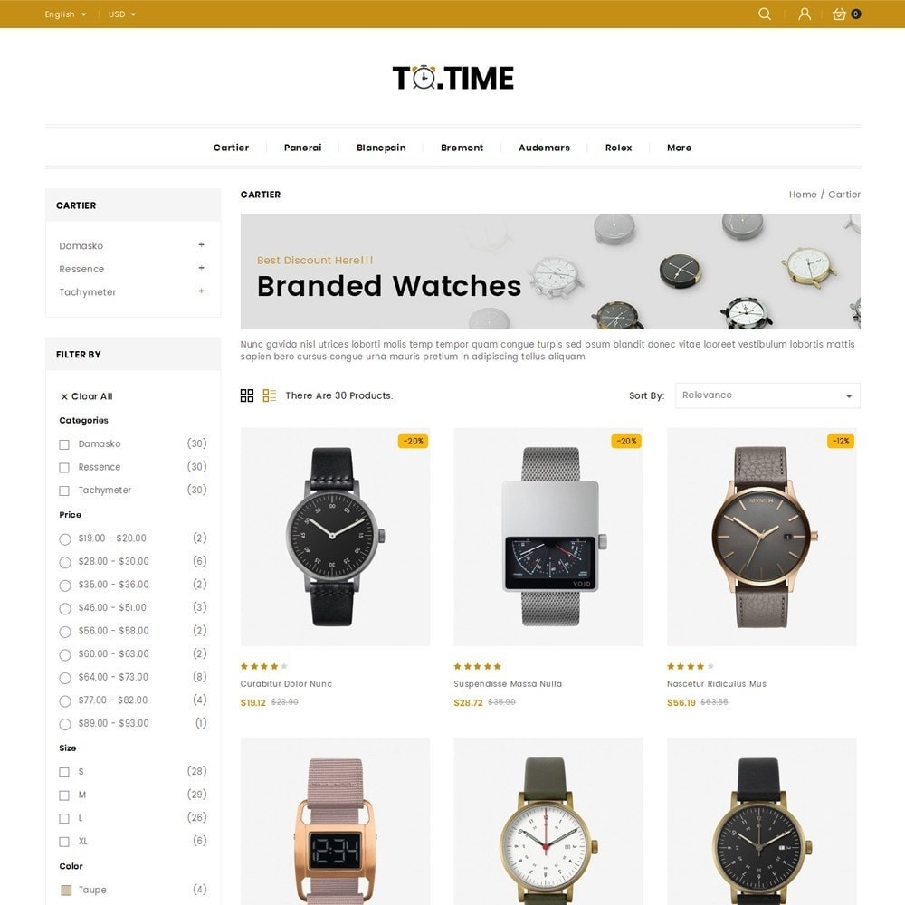 theme - Bellezza & Gioielli - ToTime - Watches Store - 3