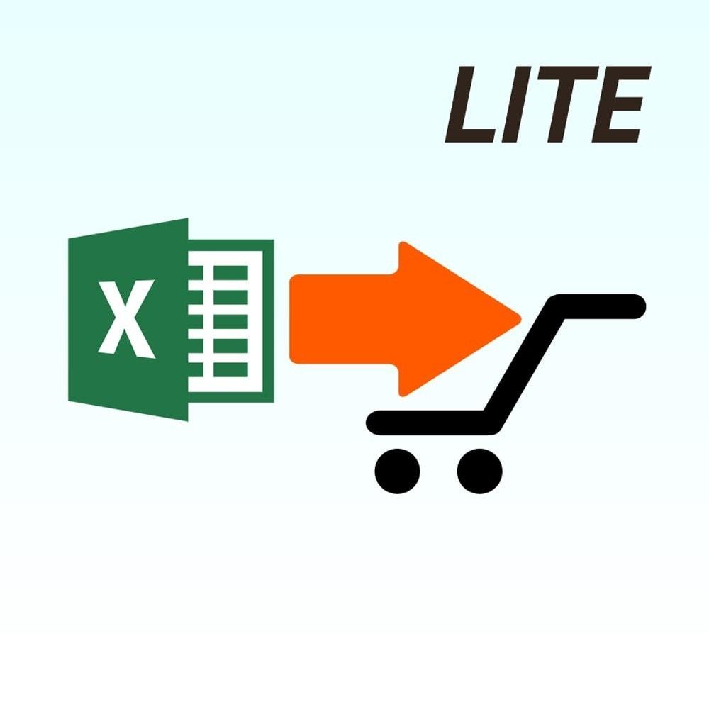 module - Importación y Exportación de datos - Importar producto de la versión Microsoft Excel Lite - 1