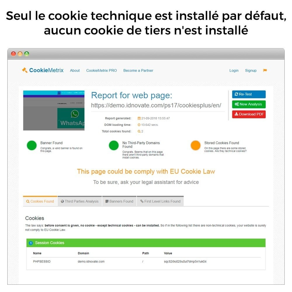 module - Législation - Cookies - Loi RGPD 2021- CNIL Approbation - 8