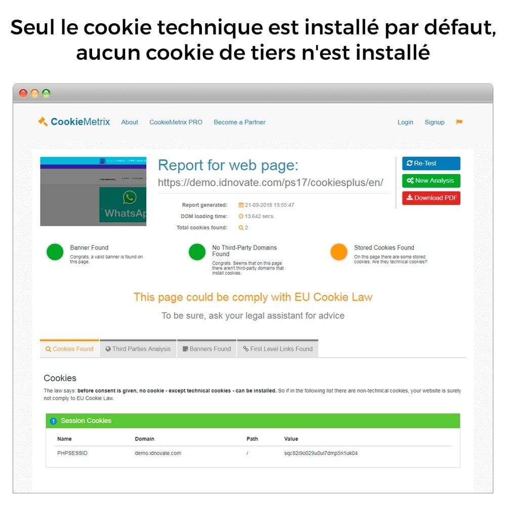 module - Législation - Loi Cookies et RGPD (bloque cookies) - Mise à jour 2020 - 8