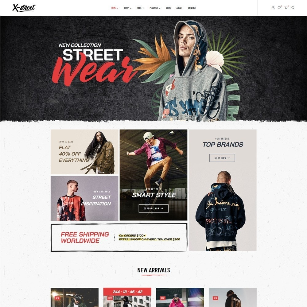 theme - Mode & Chaussures - Leo Xstreet - Street Style Fashion Store - 3