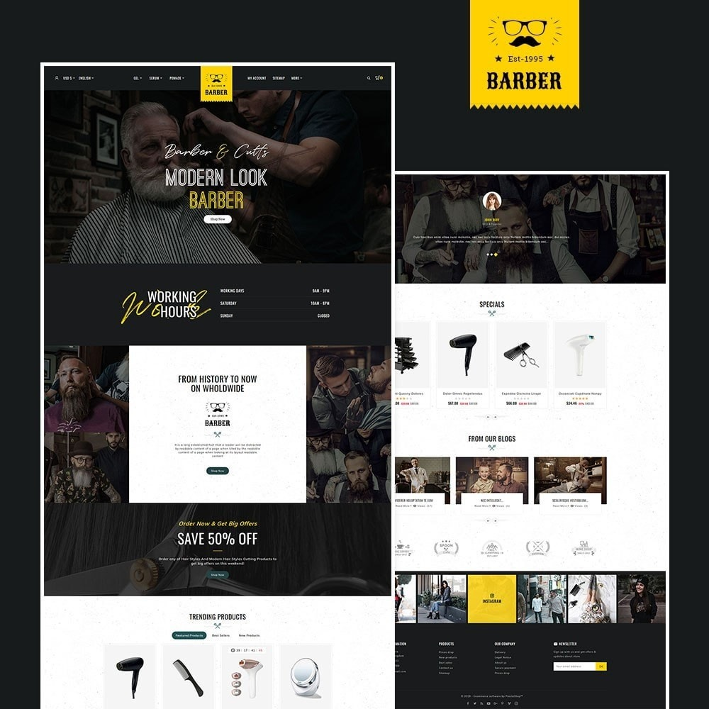 theme - Health & Beauty - Barber & Cutts - 2
