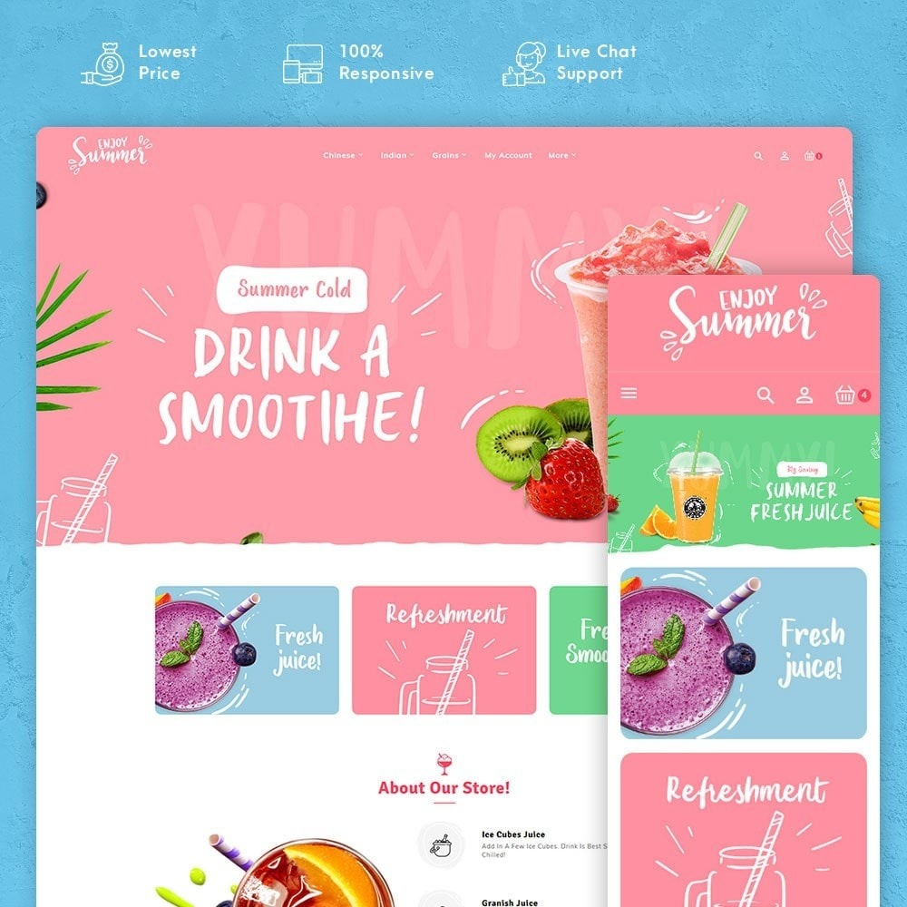 theme - Bebidas & Tabaco - Summer Food & Drink Shakes - 1