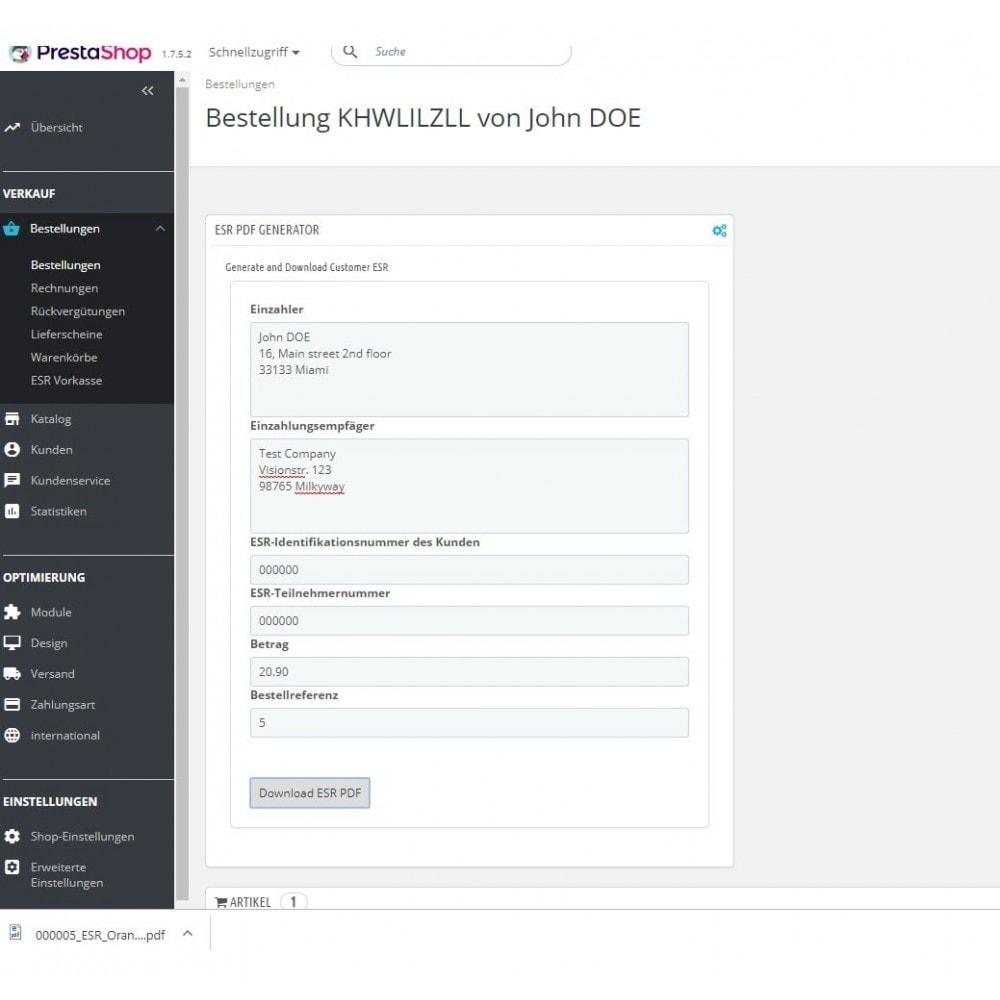 module - Other Payment Methods - ESR/ISR Orange Inpayment Slip Payment - 5