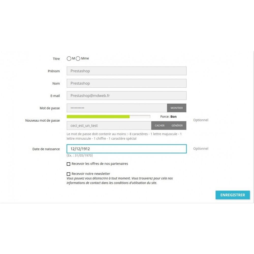 module - Sécurité & Accès - RGPD - Sécurité des mots de passe client - 3