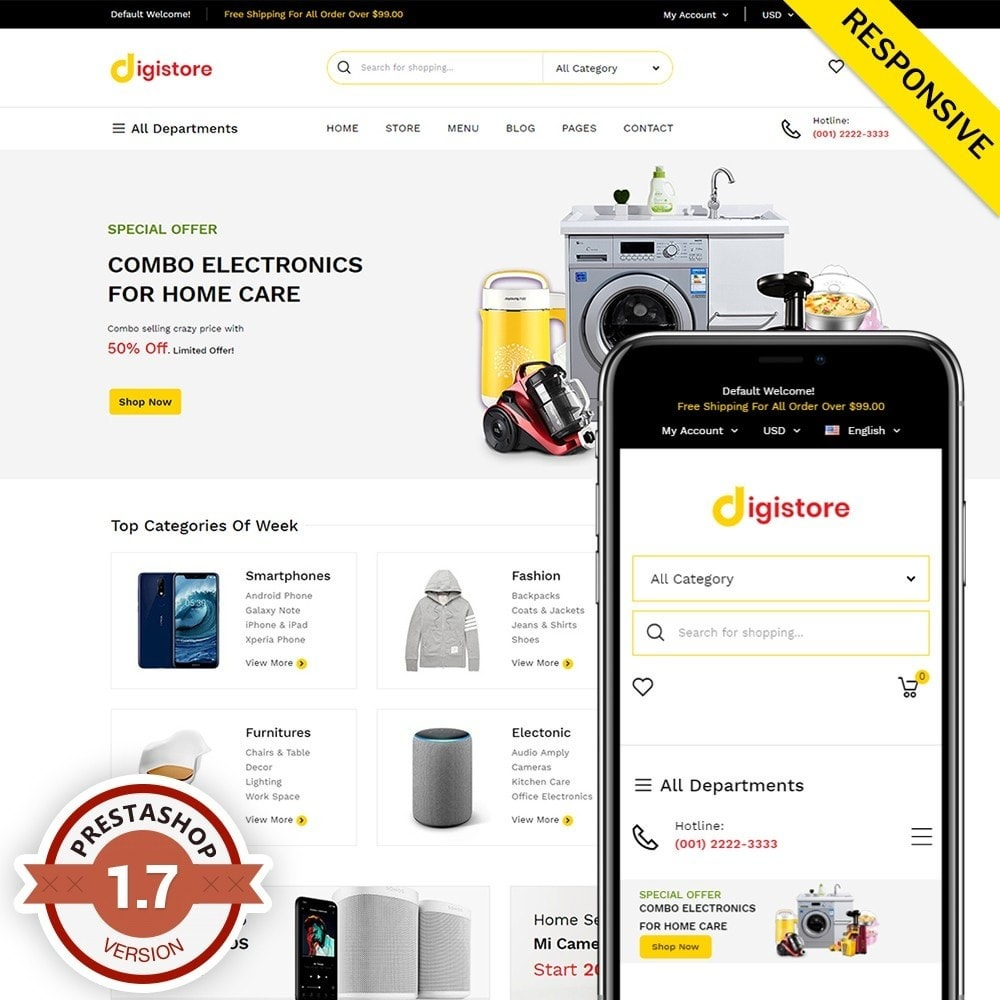 theme - Electronique & High Tech - Digistore - 1