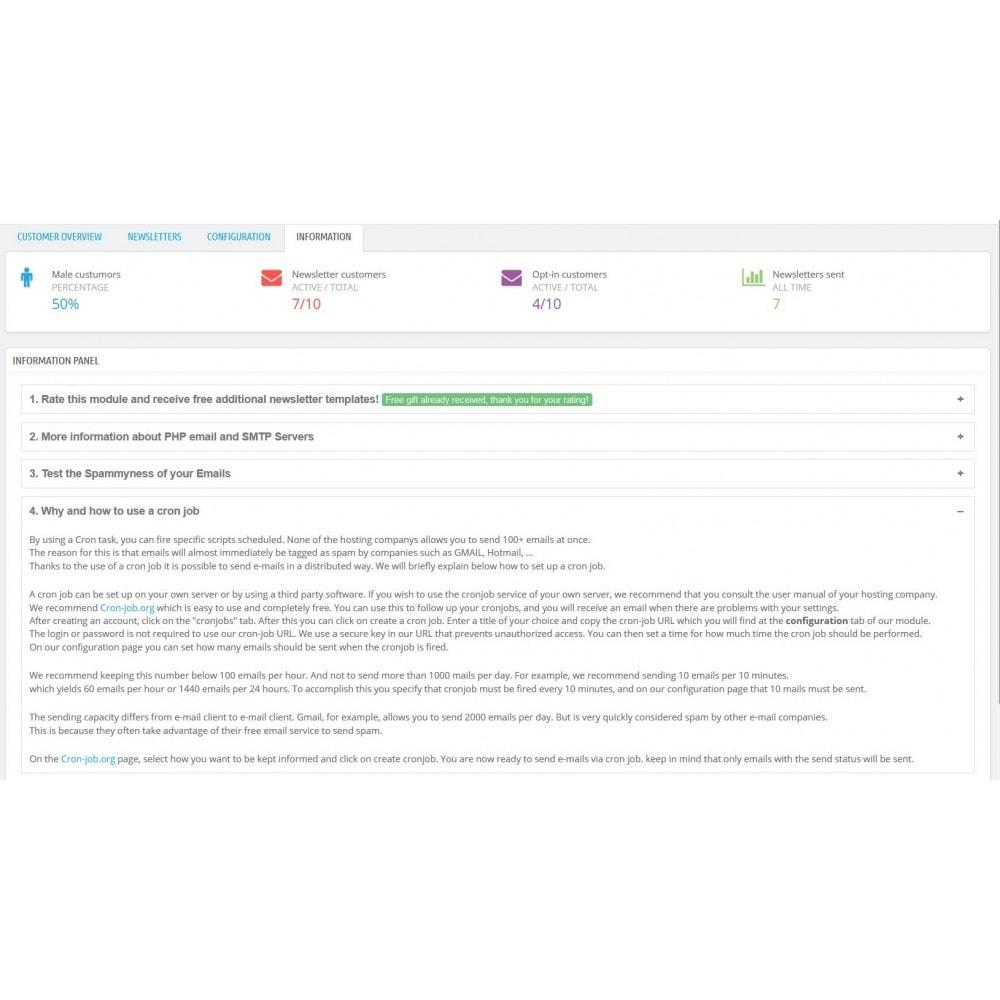 module - Nieuwsbrief & SMS - Nieuwsbrief Ontwerpen En Versturen - Drag & Drop - 10