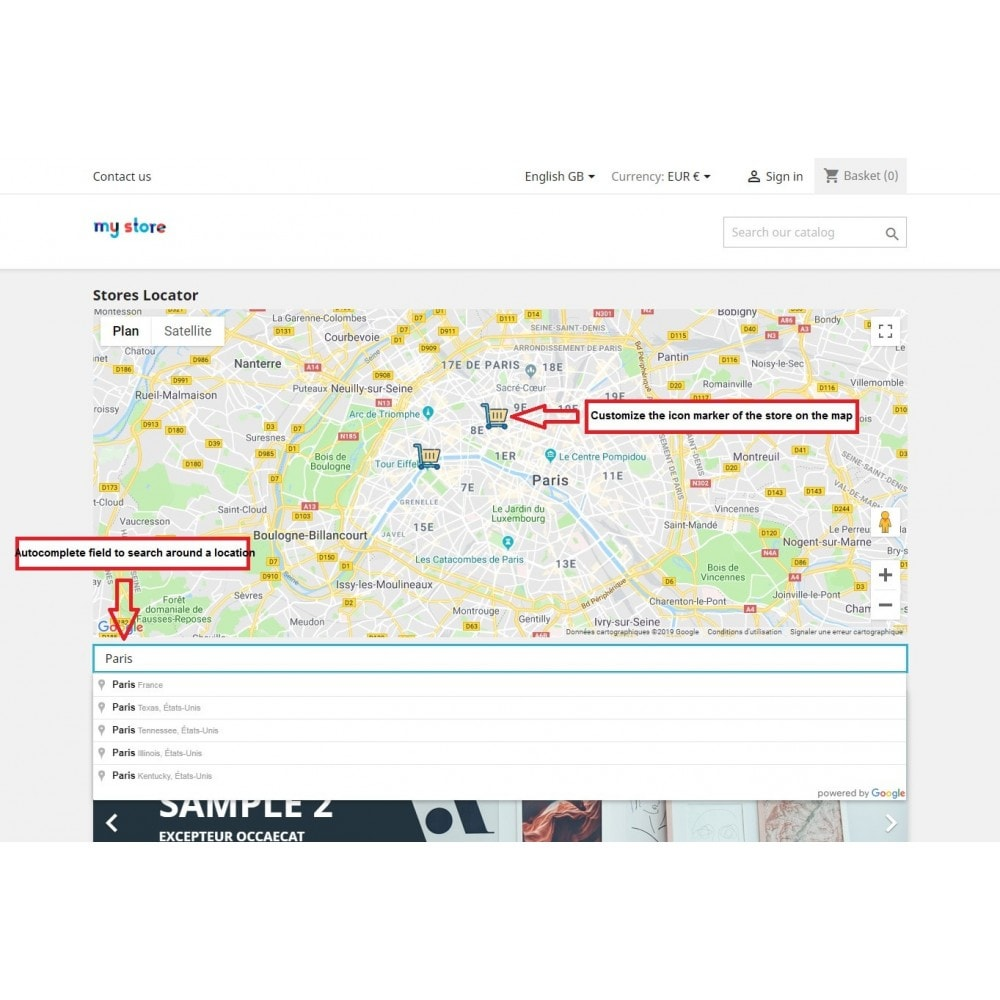 module - Lingue & Traduzioni - Stores map with Google Maps - 2