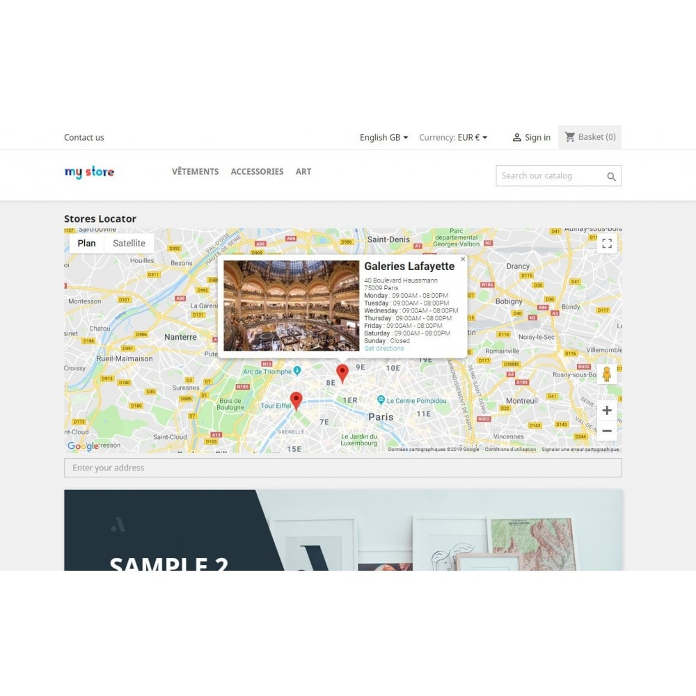 module - Lingue & Traduzioni - Stores map with Google Maps - 3