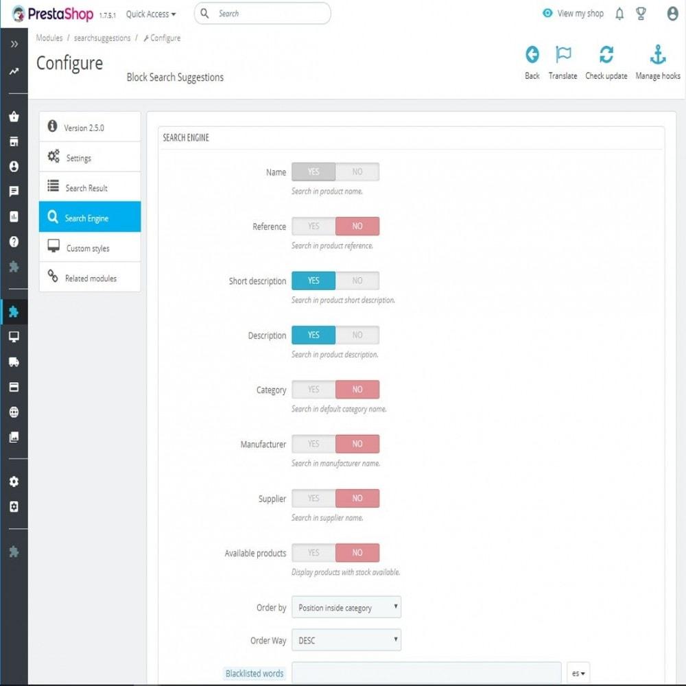 module - Búsquedas y Filtros - Bloque de búsqueda con sugerencias - 8