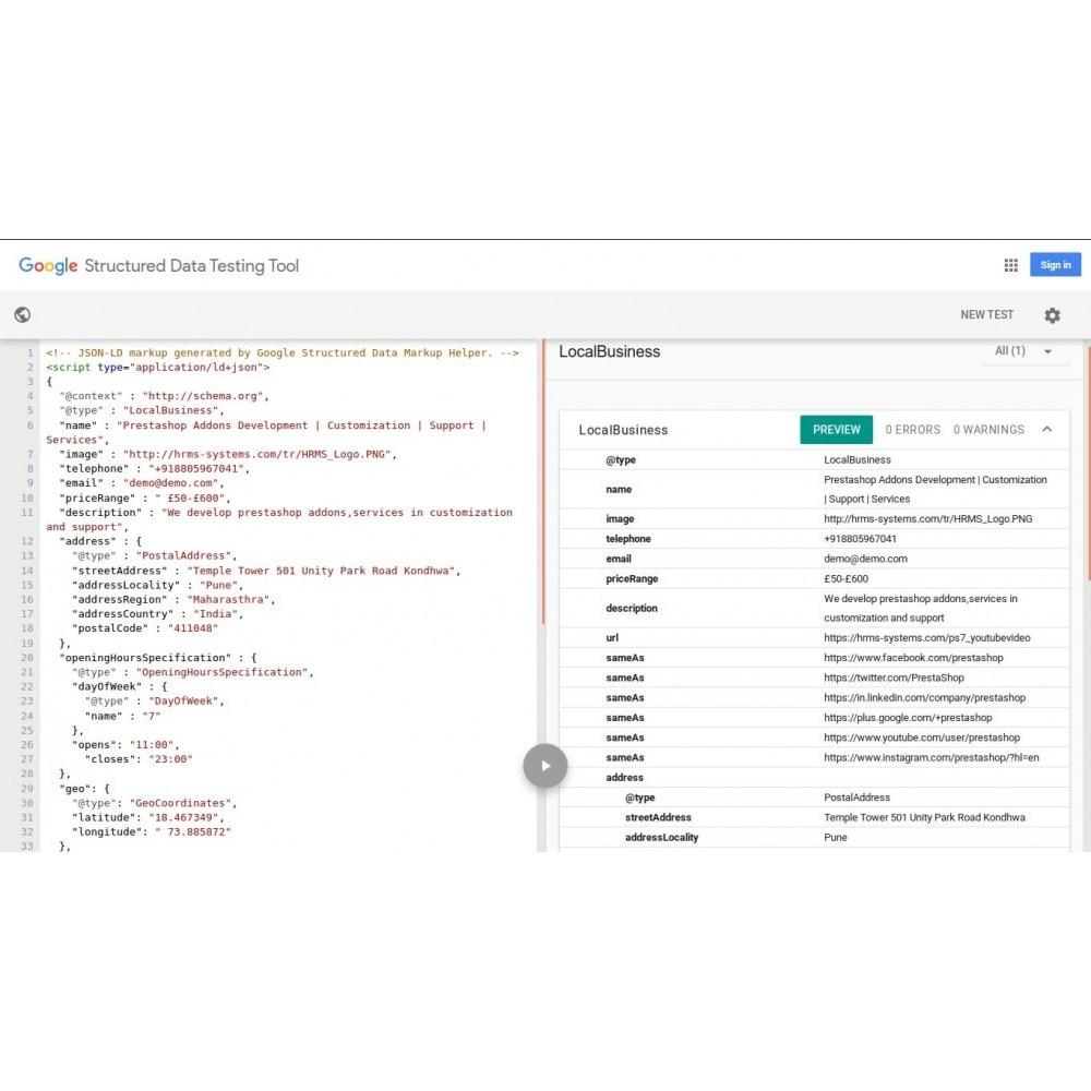 module - SEO (référencement naturel) - Schéma de données structurées SEO et Rich Snippet - 2