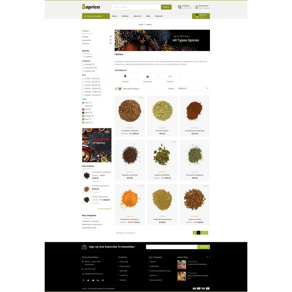 theme - Food & Restaurant - Paprica - Spice Store - 3