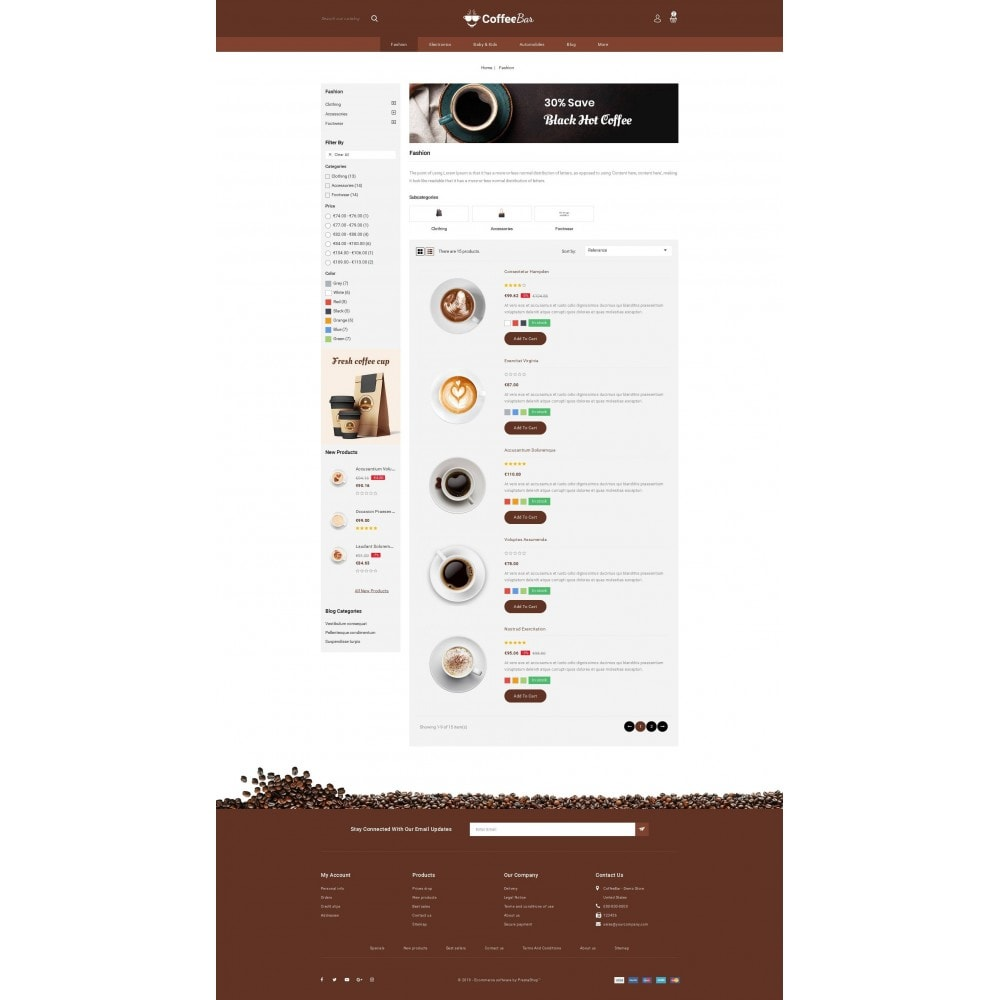 theme - Alimentation & Restauration - The Coffee Shop - 4