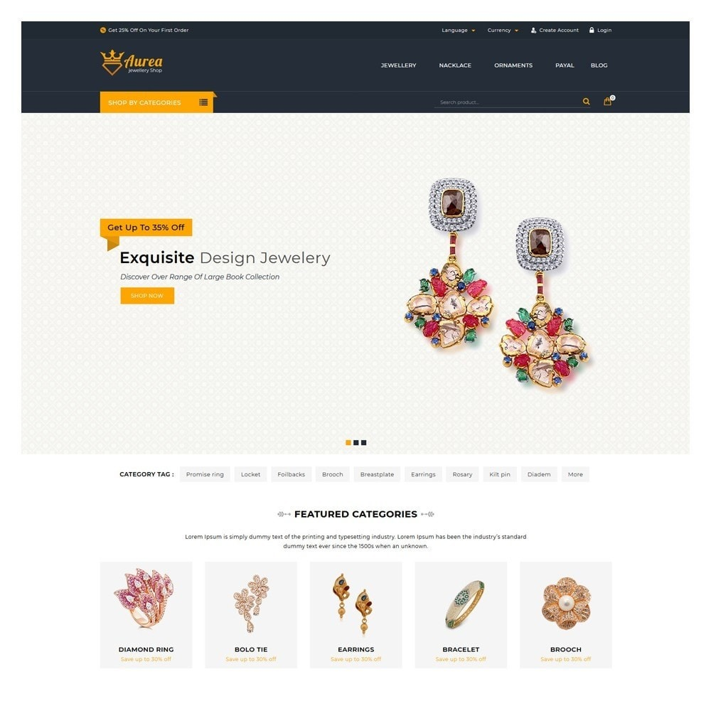 theme - Jewelry & Accessories - Aurea The Jewellery Store - 2