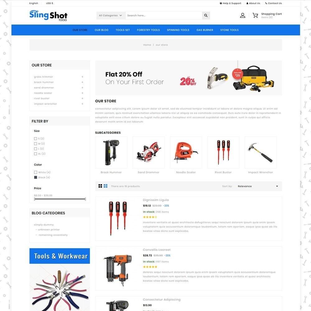theme - Automotive & Cars - Slinshot - The Tool Store - 5