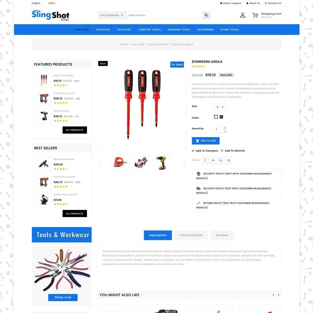 theme - Automotive & Cars - Slinshot - The Tool Store - 6