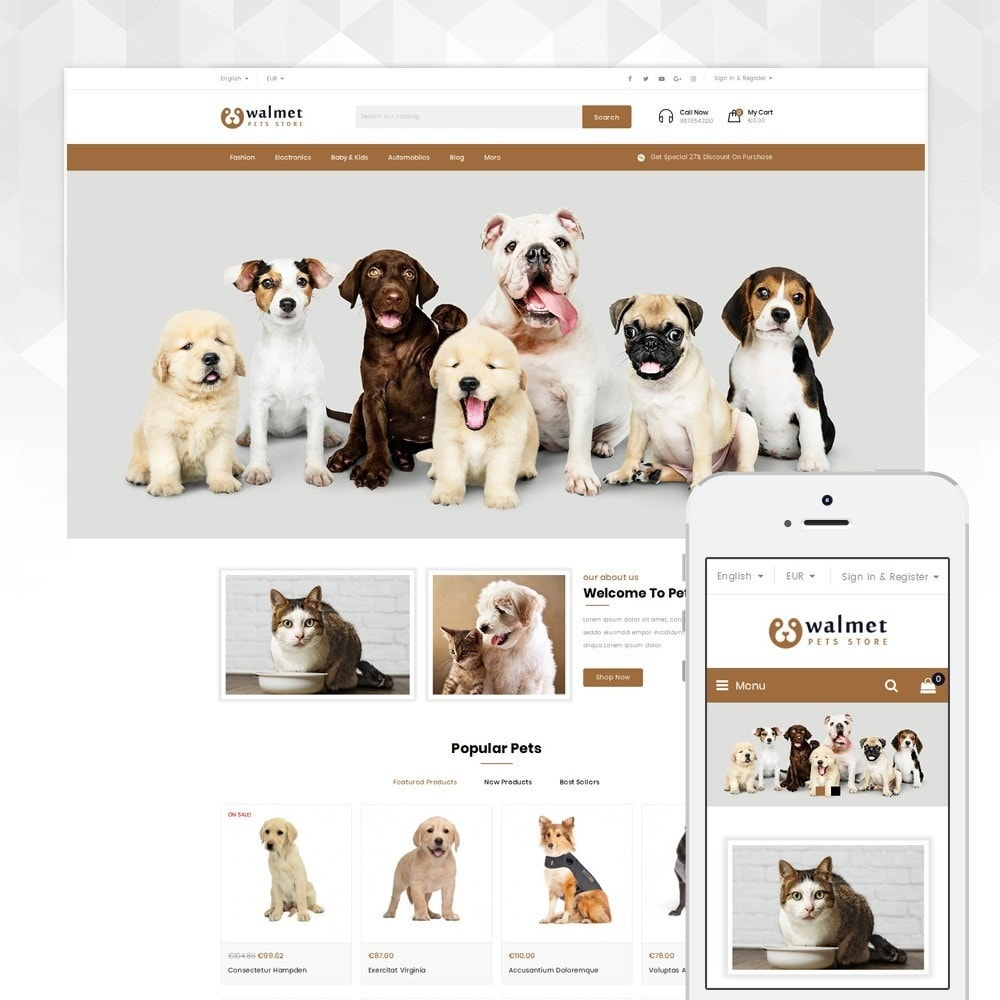 theme - Animals & Pets - Walmet - Pets Store - 1