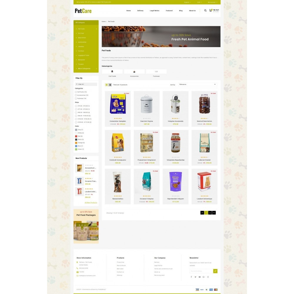theme - Animaux - Petcare - Pets Food Store - 3