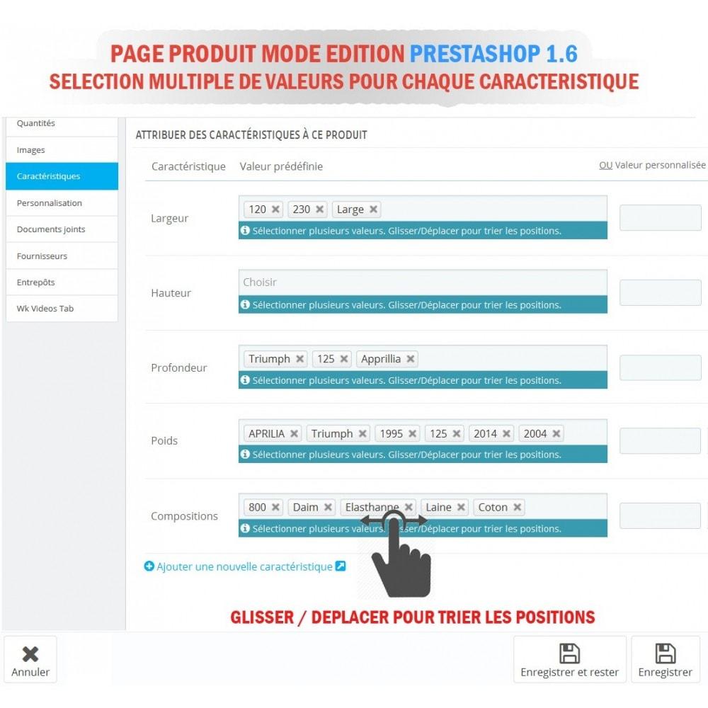 module - Edition rapide & Edition de masse - WK Association en Masse Caractéristiques pour Produits - 5