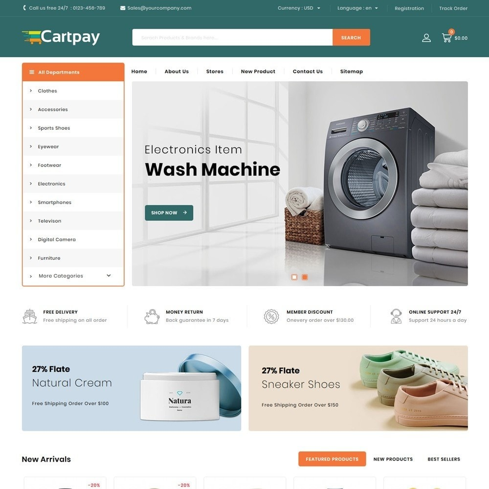 theme - Elektronica & High Tech - Cartpay - Mega Store - 2