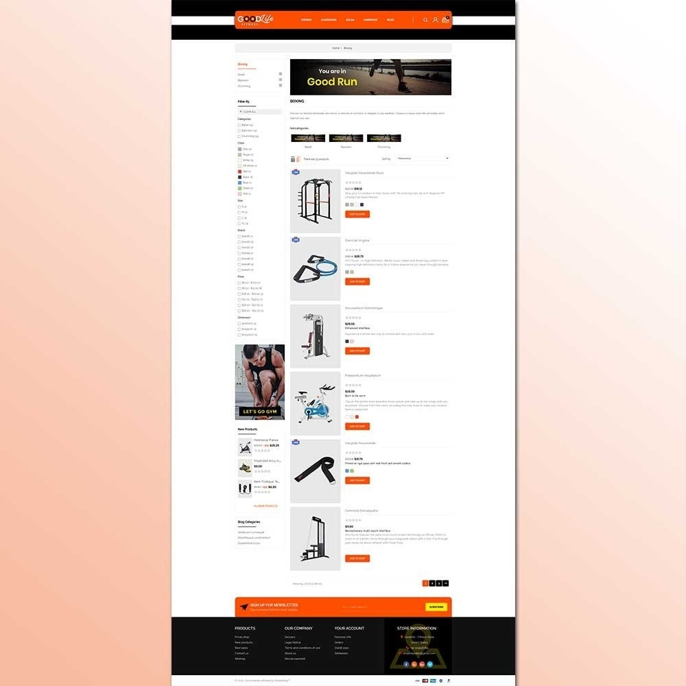 Goodlife Fitness Store Prestashop Addons