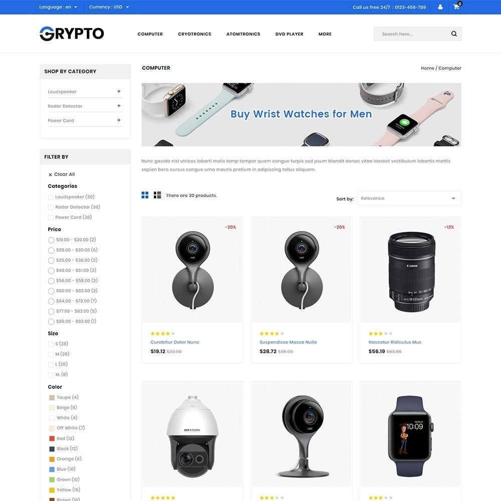 theme - Elektronika & High Tech - Grypto - Multipurpose Shop - 3