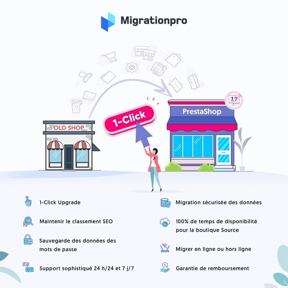module - Migration de Données & Sauvegarde - Outil de migration PrestaShop - 1
