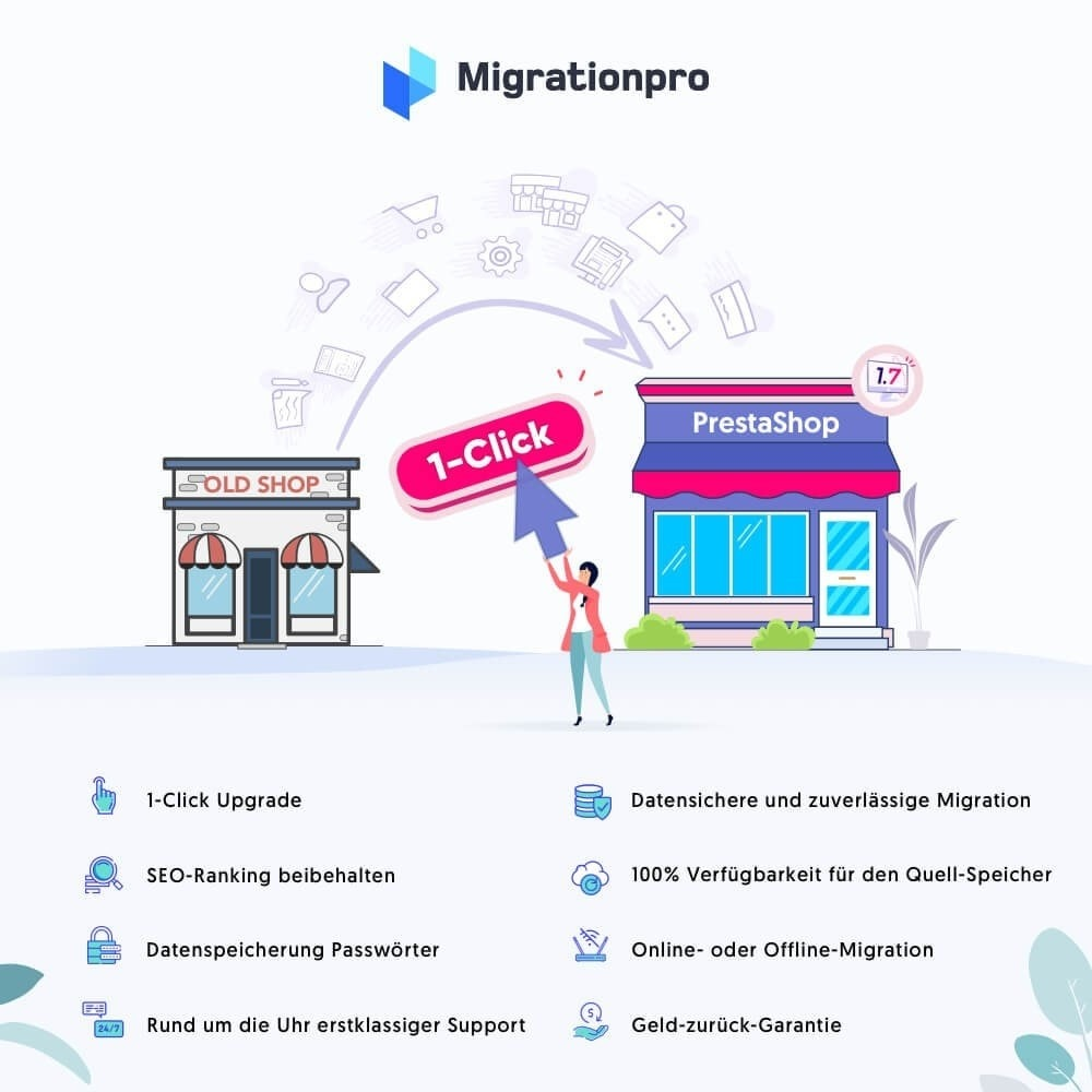 module - Datenmigration & Backup - MigrationPro: Prestashop Upgrade und Migrationstool - 1