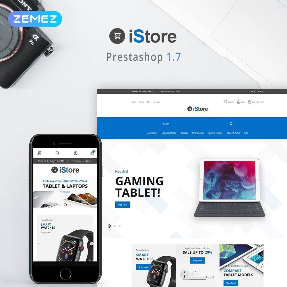 theme - Elektronika & High Tech - iStore - Electronics Shop - 1