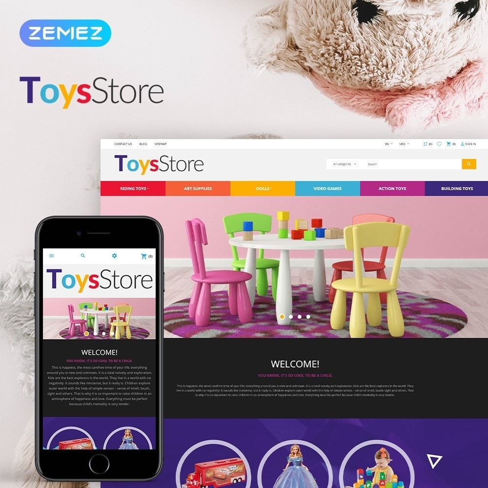 theme - Enfants & Jouets - ToysStore - Kids Play Games Store - 1