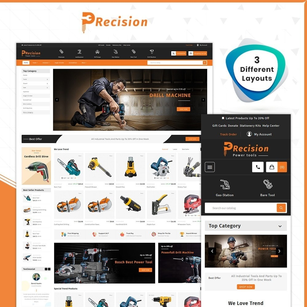 theme - Automotive & Cars - Outils Presicion - Tools & Machine Shop - 1