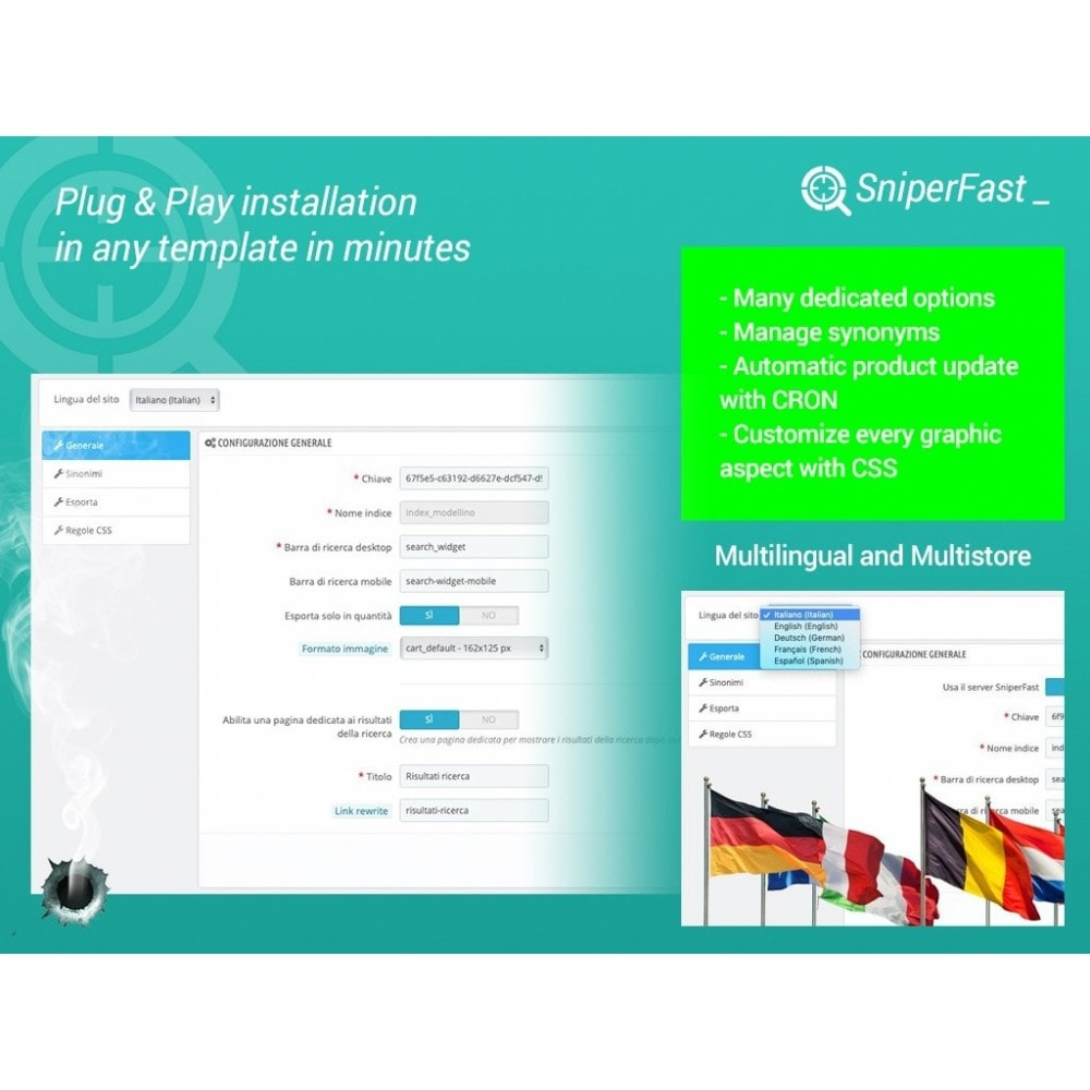 module - Pesquisa & Filtros - Fast and instant search for ecommerce - SniperFast - 2