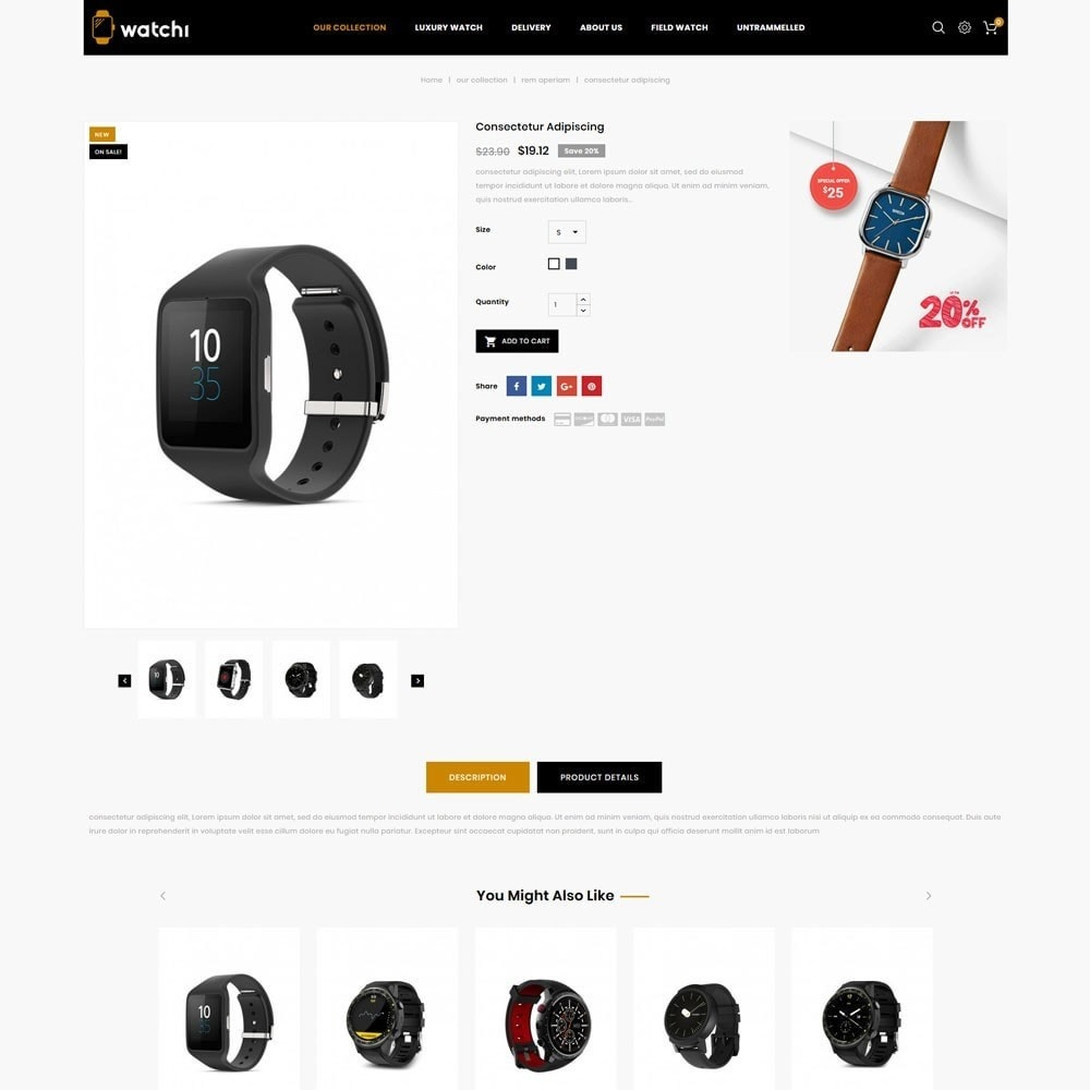 theme - Eletrônicos & High Tech - Watchi - The Watch Store - 6