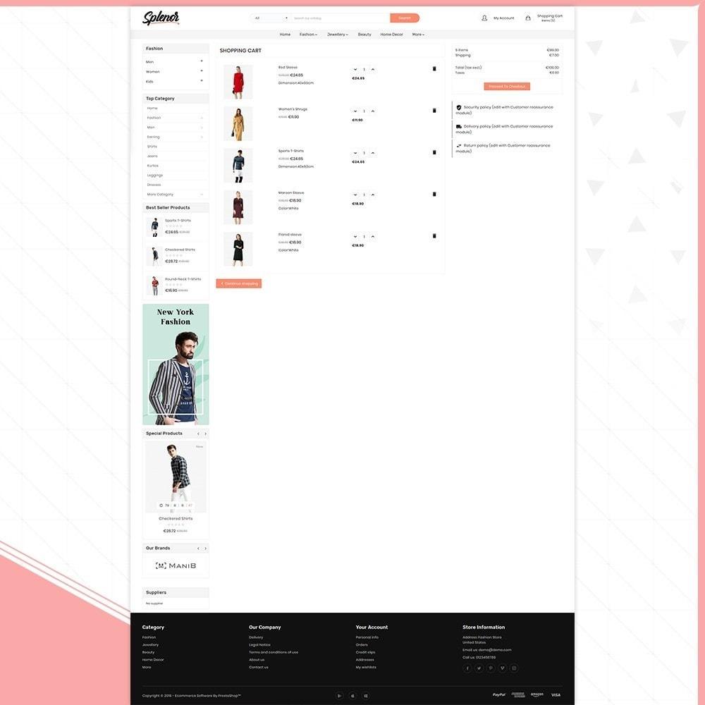 theme - Fashion & Shoes - Splenor - Fashion Style Shop - 5