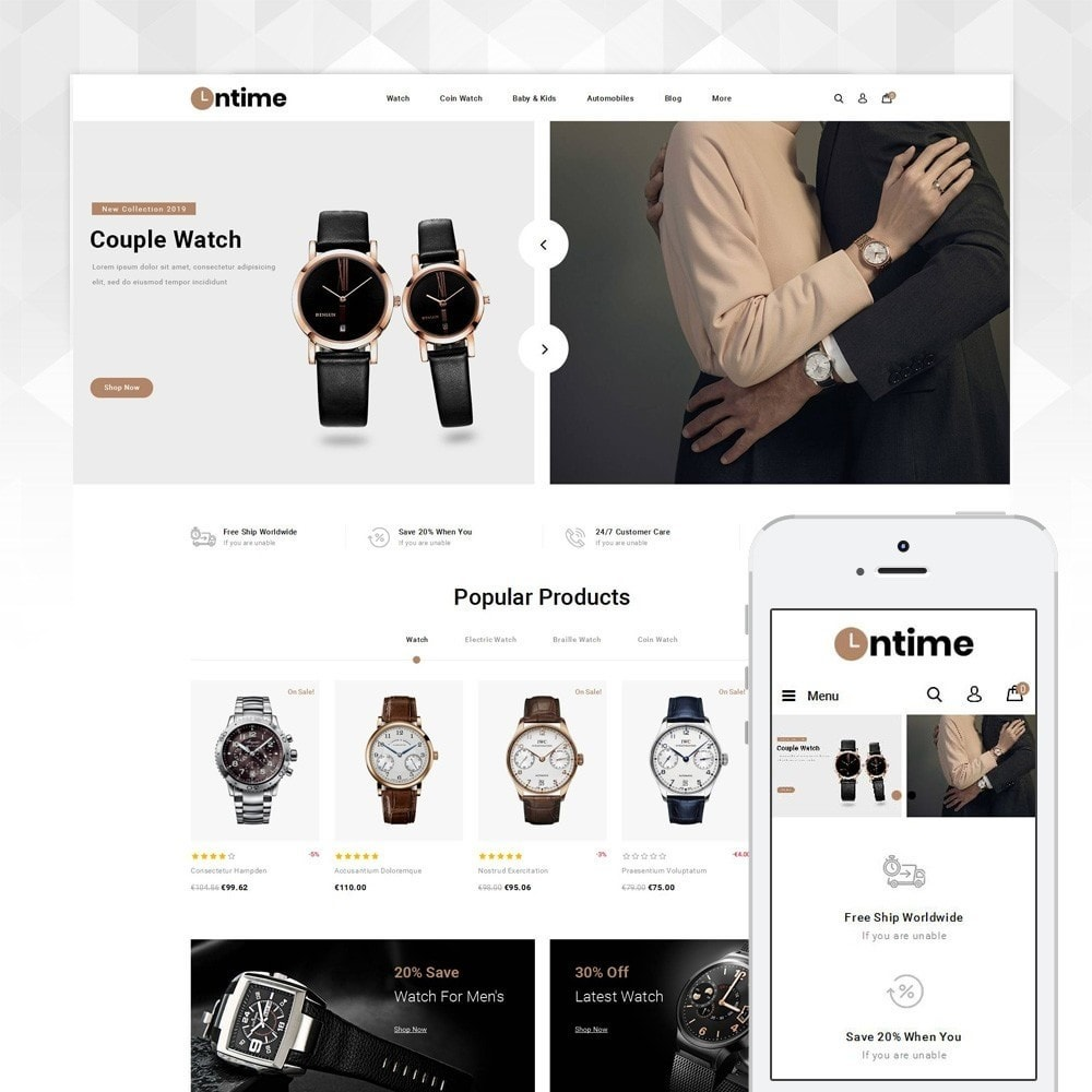 theme - Jewelry & Accessories - OnTime - Online Watch Store - 1