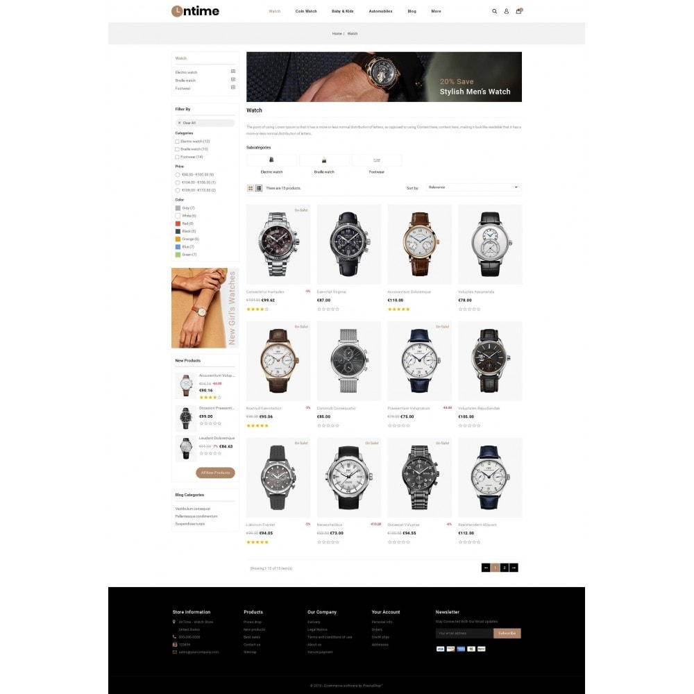 theme - Jewelry & Accessories - OnTime - Online Watch Store - 3