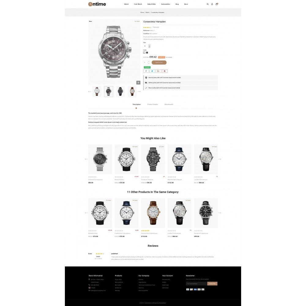 theme - Jewelry & Accessories - OnTime - Online Watch Store - 5